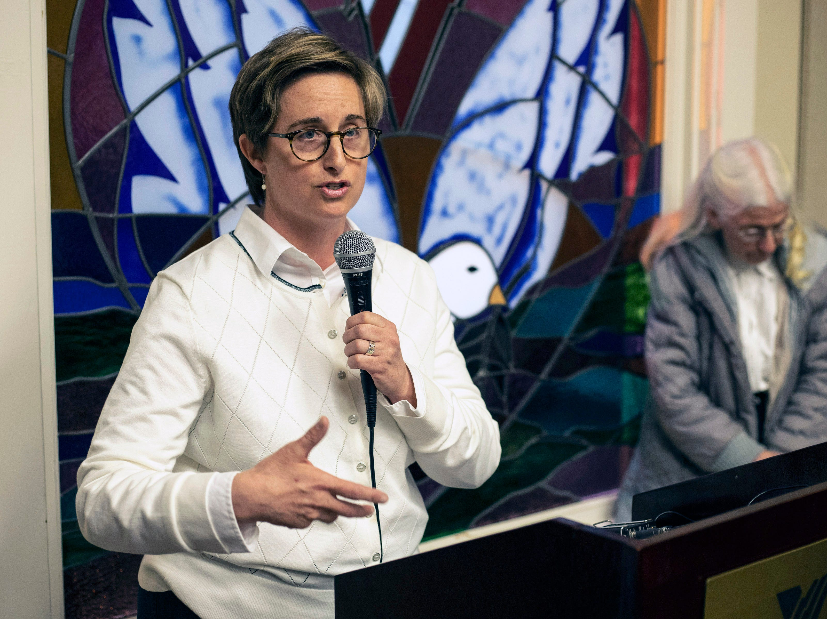 Allison King was a featured speaker during the annual Catholics for Fairness Pilgrimage on Sunday afternoon. March 24, 2019