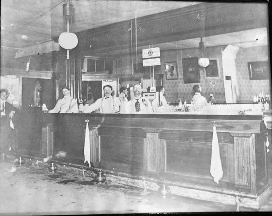 An interior photo from the early 1900s of 100 S. Main St. in Eaton Rapids, home to a local watering hole since 1887, longer than any other building in Eaton County.