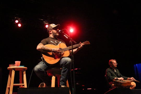 Aaron Lewis, shown at an acoustic show at the Rave's Eagles Ballroom in March, is headlining the Waukesha County Fair July 18.