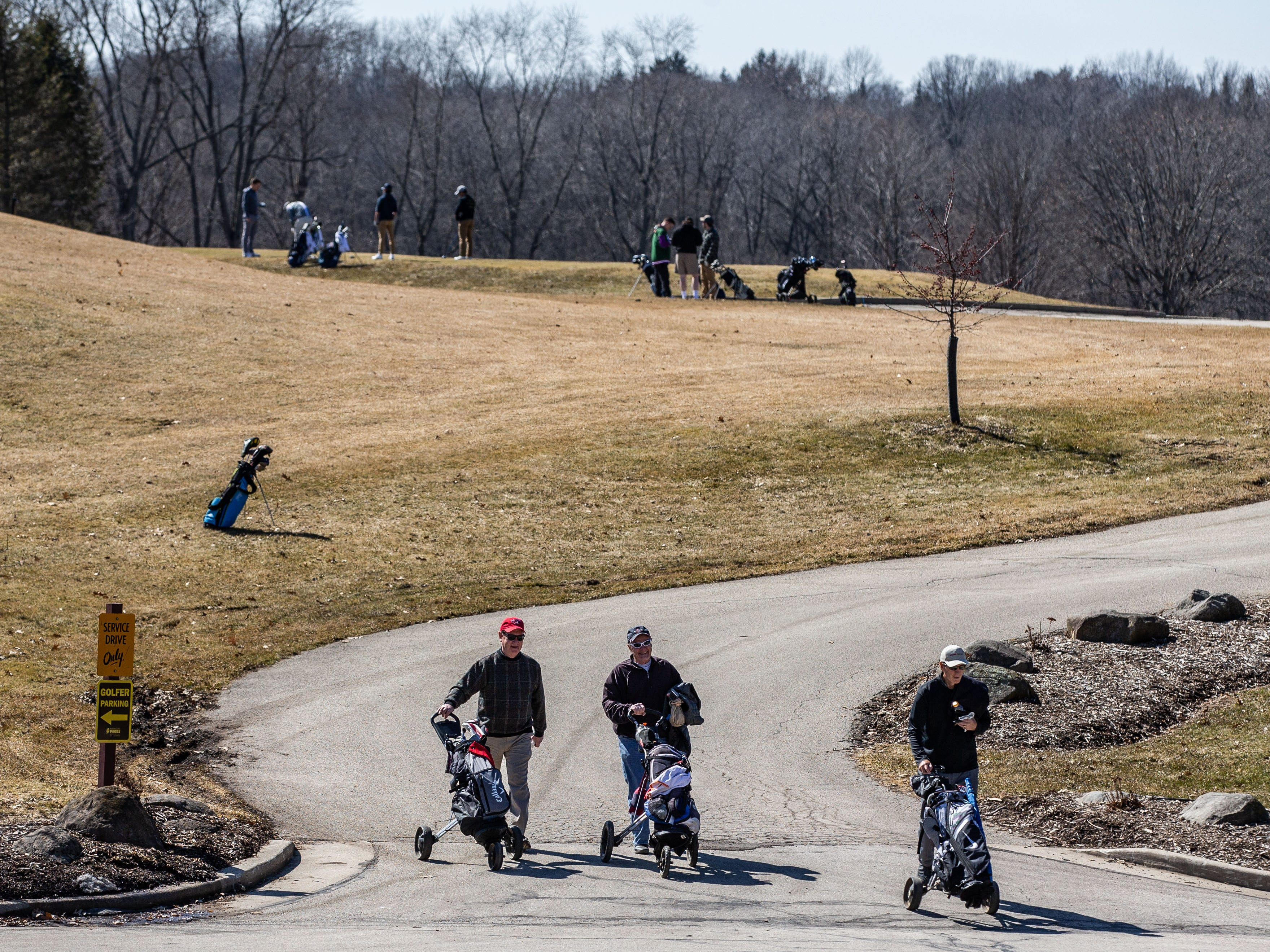Whitnall Park Golf Course in Franklin bustles with activity on Saturday, March 23, 2019. Warm sunny weather lured many enthusiasts outside to enjoy the game.