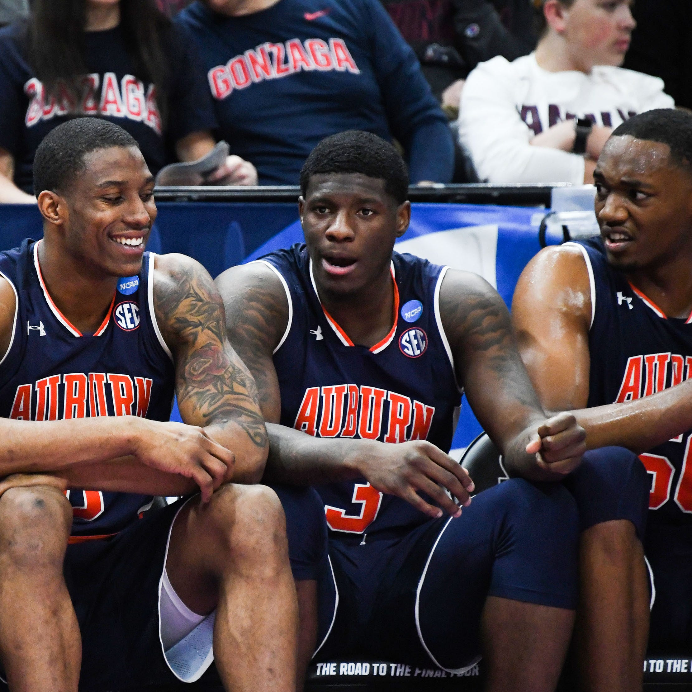 Inside a confident Auburn locker room before and after an NCAA Tournament rout of Kansas