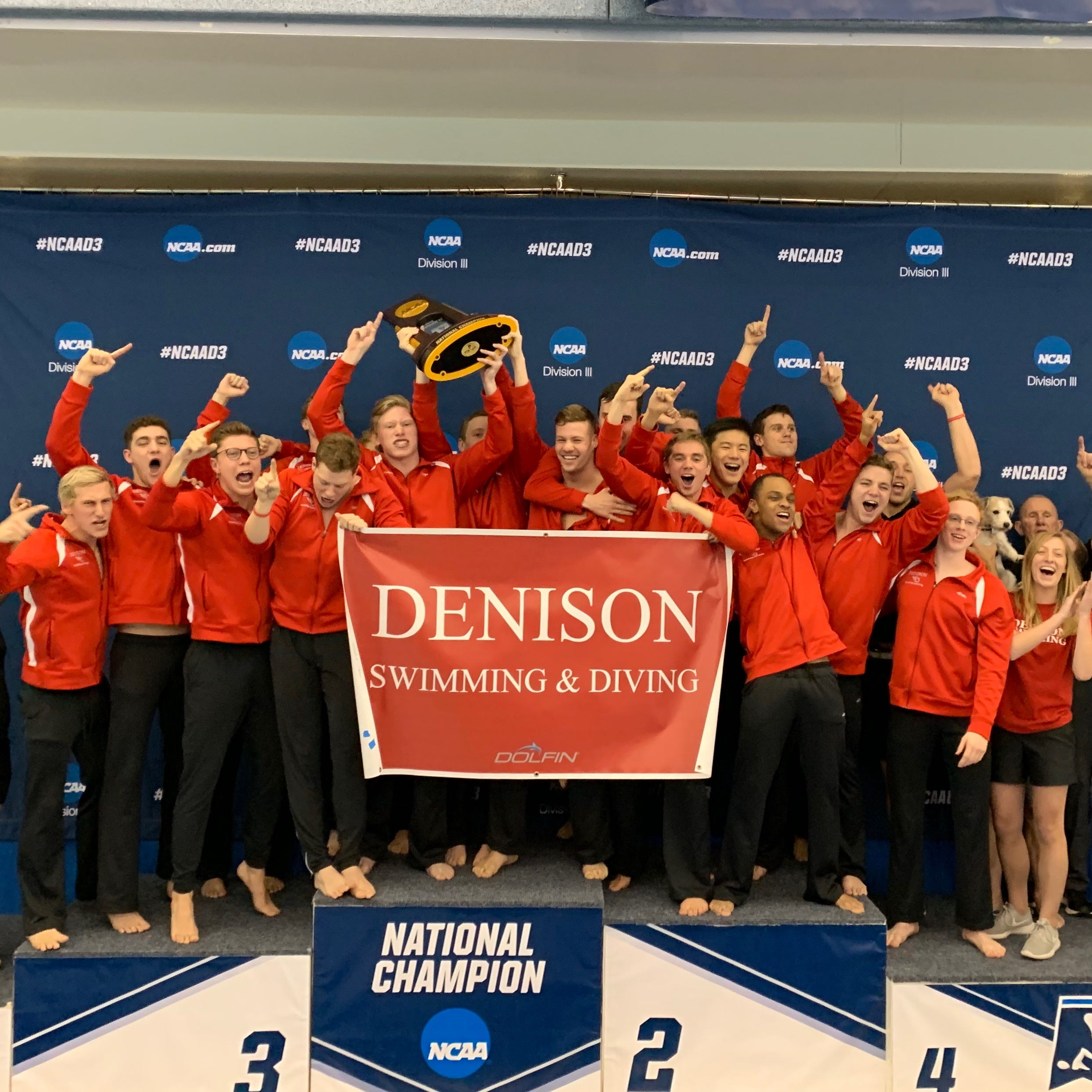 Denison men's swim team repeats as NCAA champion