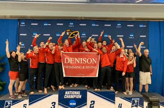 The Denison men's swim team won its second consecutive NCAA DIvision III national title in Greensboro, North Carolina.