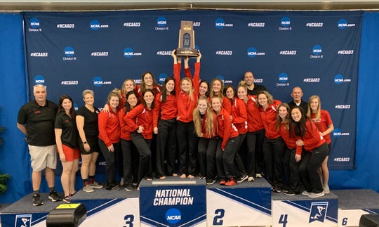 Denison's women's swim team finished third in the NCAA Division III national championships in Greensboro, North Carolina.