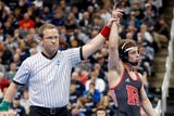 Nick Suriano's family, Rutgers wrestling fans react to the former Bergen Catholic star's national title win.