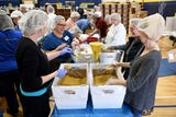 Grains of Hope held a Community Meal Packing Day on March 24, 2019. Volunteers assembled pouches of macaroni and cheese meals for the hungry.