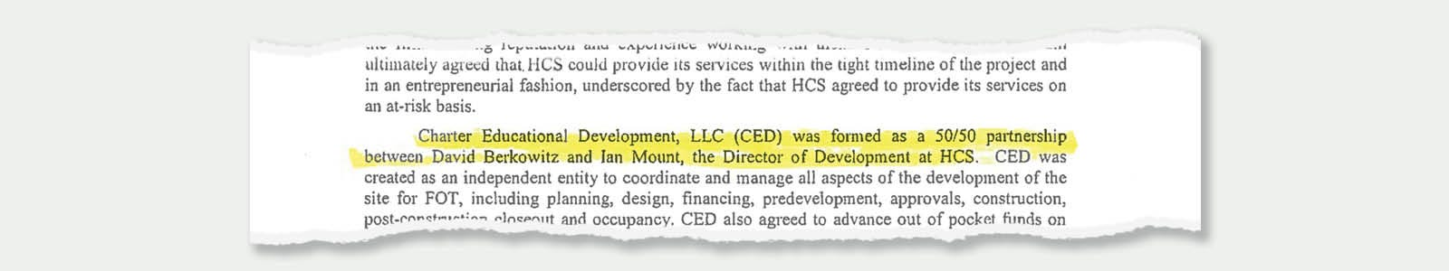 Ian Mount and David Berkowitz  formed a company called Charter Educational Development.