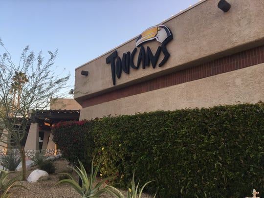 Two people were shot early Sunday at Toucans Tiki Lounge in Palm Springs. Their injuries are not life threatening and no suspects have been arrested, police say.
