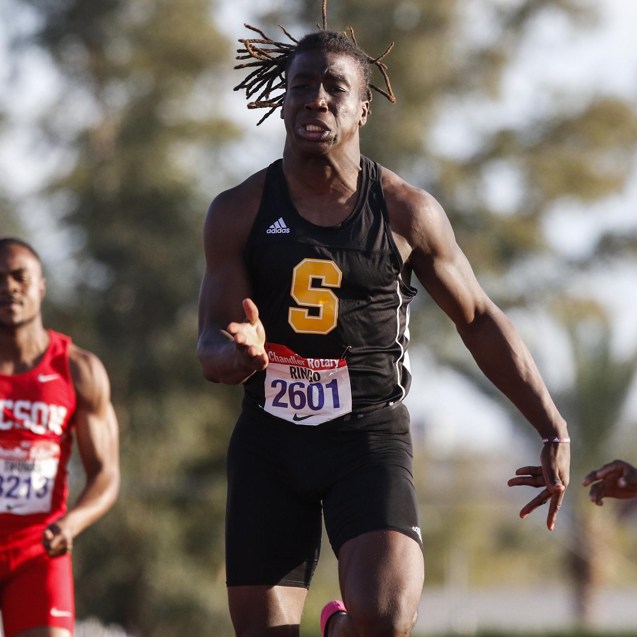 Saguaro's Kelee Ringo sets Chandler Rotary 100 record in his first track meet