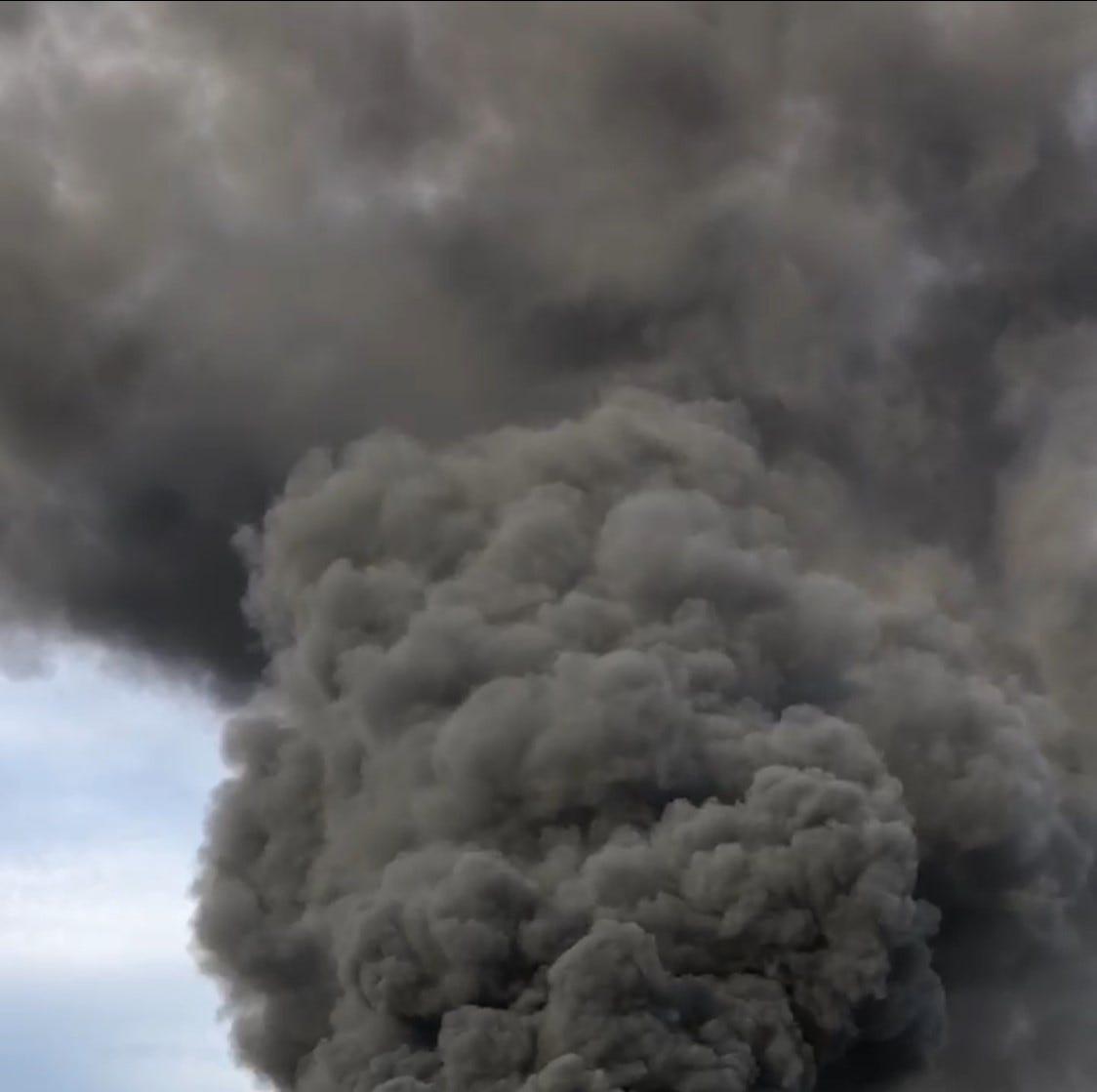 Tire fire burns near El Mirage