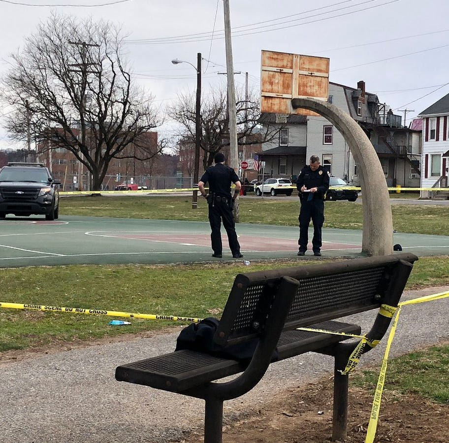 One shot in York City park Sunday afternoon; witness said kids were playing basketball