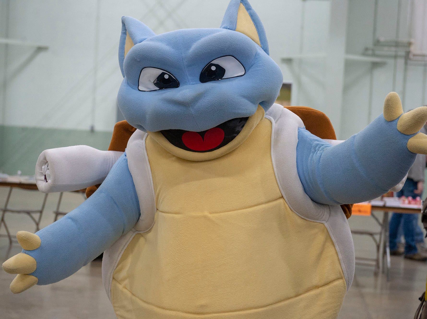 You can't tell from the outside, but inside this Blastoise costume from Pokemon is Braden Bolyard from York. He was attending the White Rose Comic Con, which runs through Sunday, March 24, 2019 at Utz Arena of the York Fairgrounds.