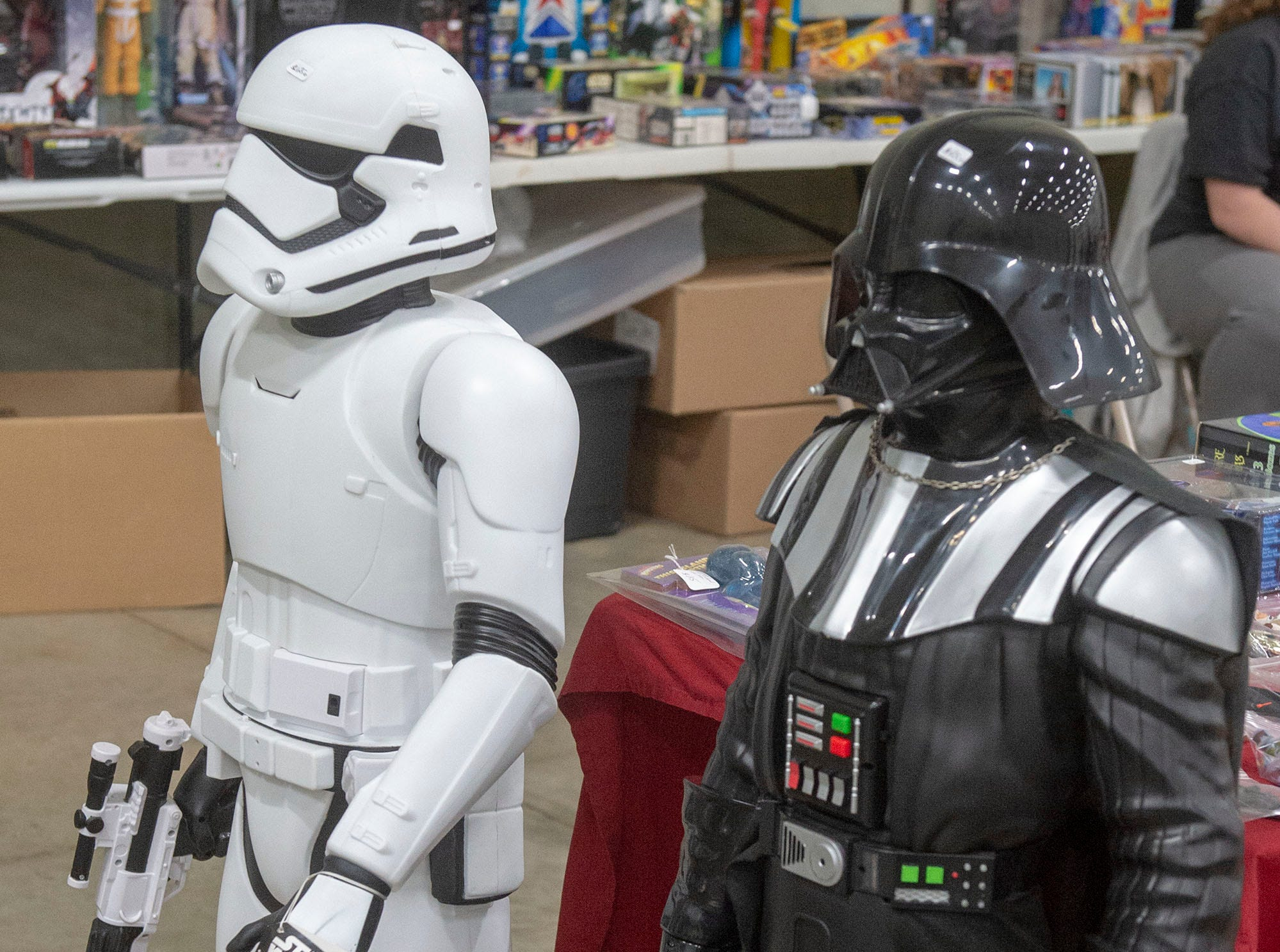 They aren't life-sized, but these 4-foot Storm Trooper and Darth Vader are available at the White Rose Comic Con, which runs through Sunday, March 24, 2019 at Utz Arena of the York Fairgrounds.