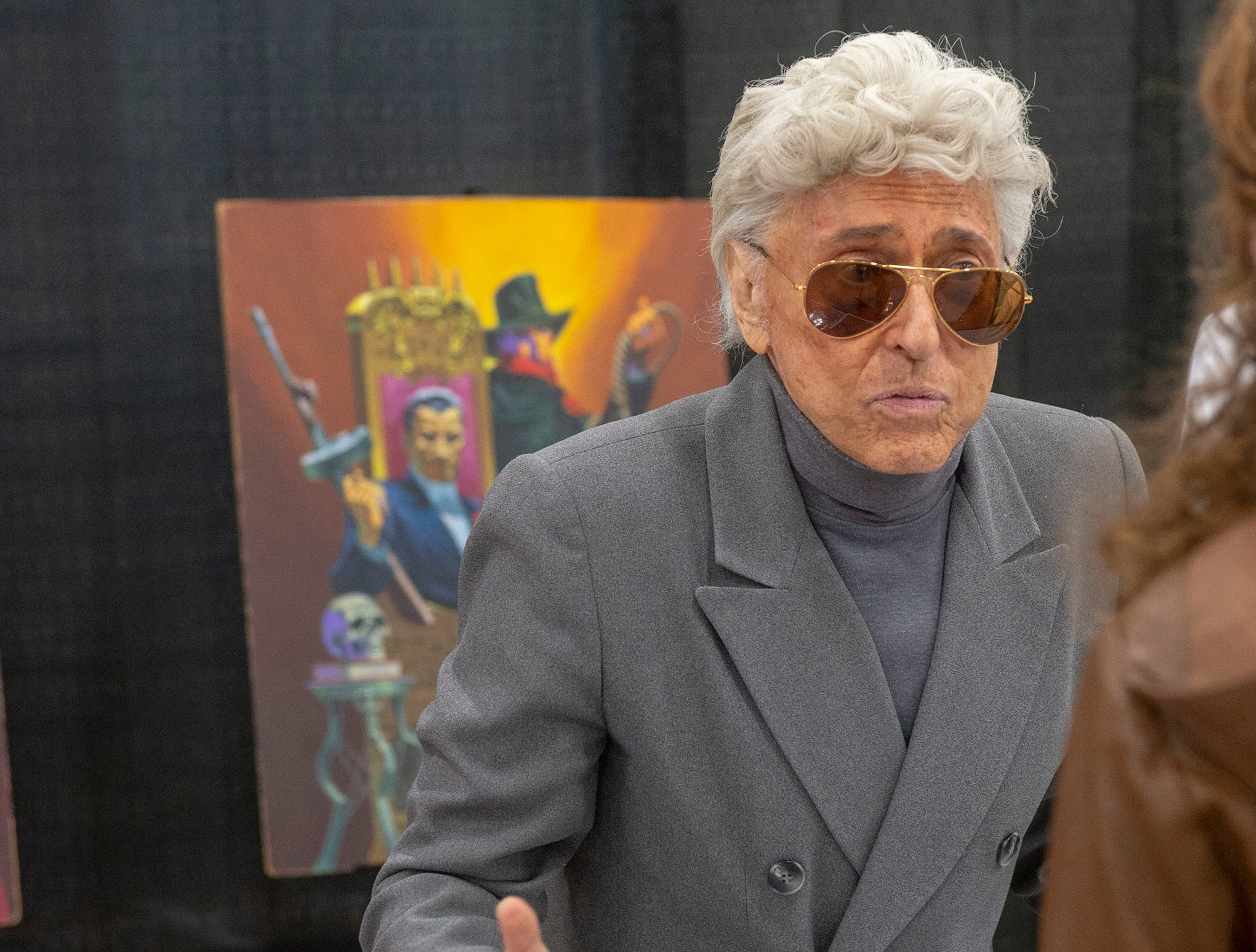 Jim Steranko, one of the most influential people in the comic book industry, talks with a fan Saturday at the White Rose Comic Con, which runs through Sunday, March 24, 2019 at Utz Arena of the York Fairgrounds.