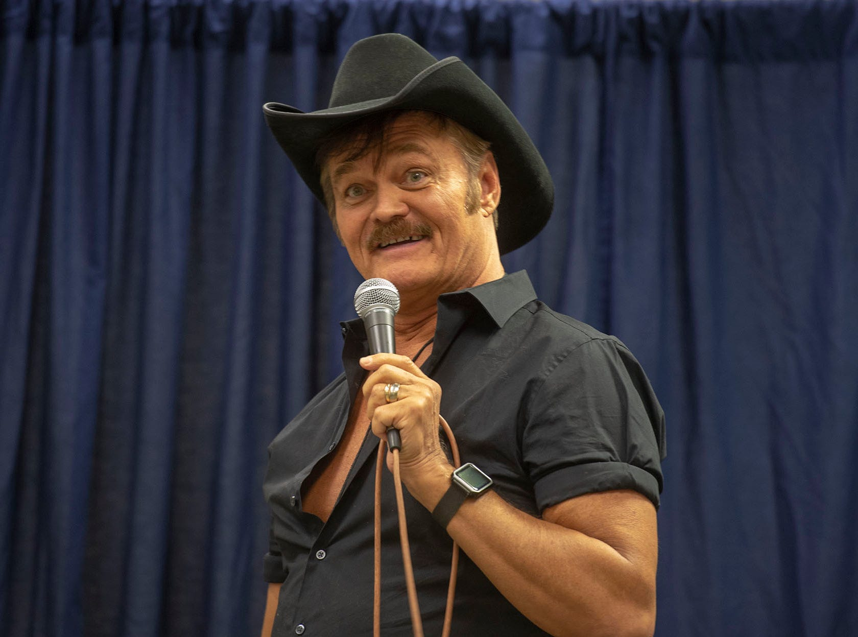Randy Jones, the original Cowboy of the Village People, sang a couple of songs on his own at the White Rose Comic Con, which runs through Sunday, March 24, 2019 at Utz Arena of the York Fairgrounds.