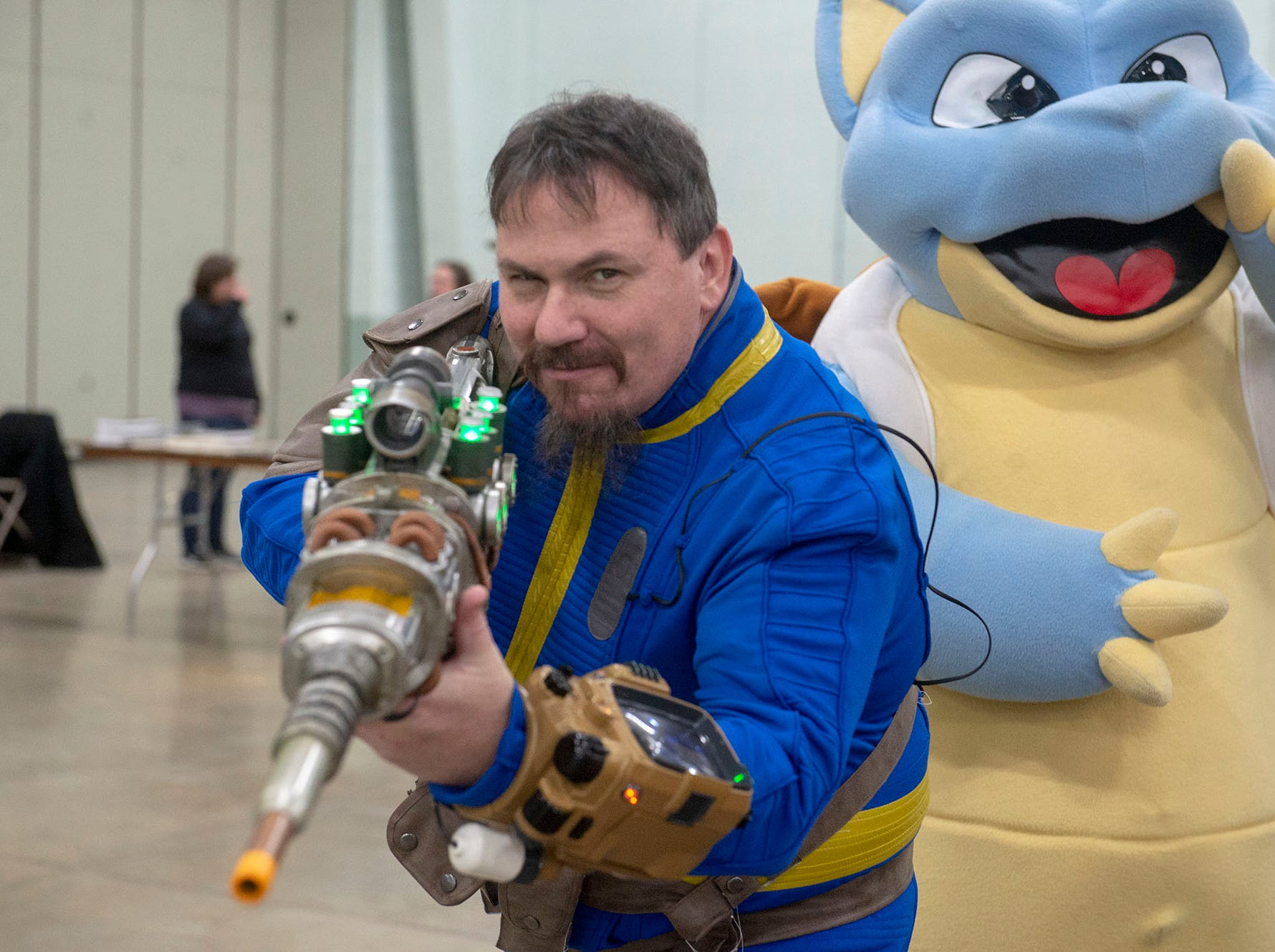 It's common to see fans attend comic cons in the costume of their favorite character. That was the case Saturday at the White Rose Comic Con, which runs through Sunday, March 24, 2019 at Utz Arena of the York Fairgrounds.