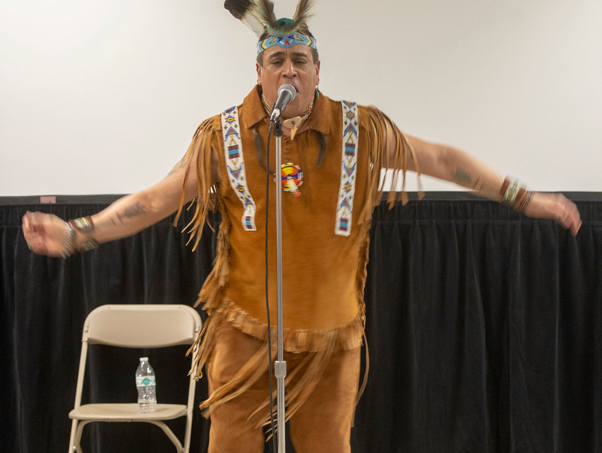 Felipe Rose showed off his dance moves in a set of his own songs Saturday at the White Rose Comic Con, which runs through Sunday, March 24, 2019 at Utz Arena of the York Fairgrounds.