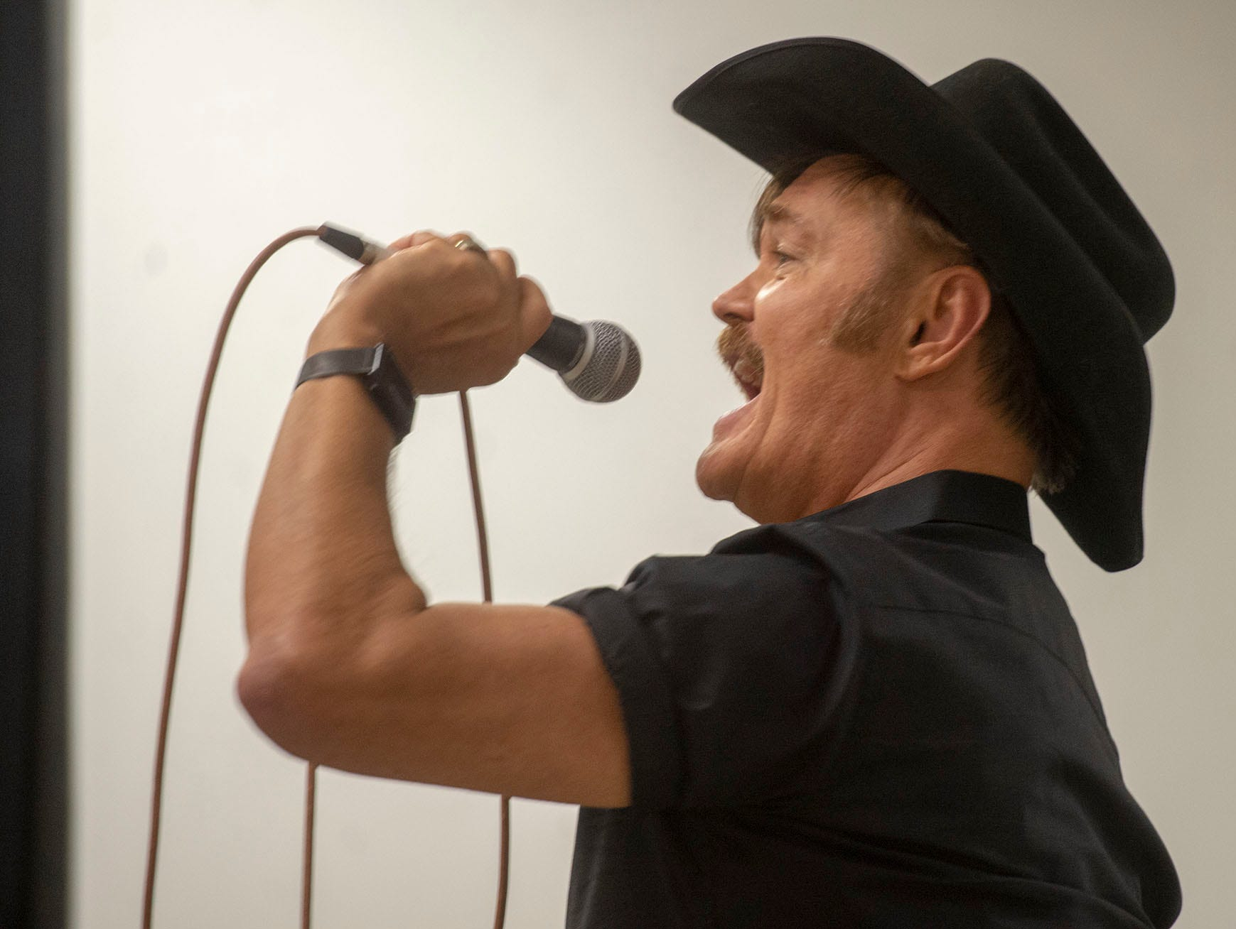 """Randy Jones of the Village People performs """"Rhinestone Cowboy"""" in memory of Glen Campbell at the White Rose Comic Con, which runs through Sunday, March 24, 2019 at Utz Arena of the York Fairgrounds."""