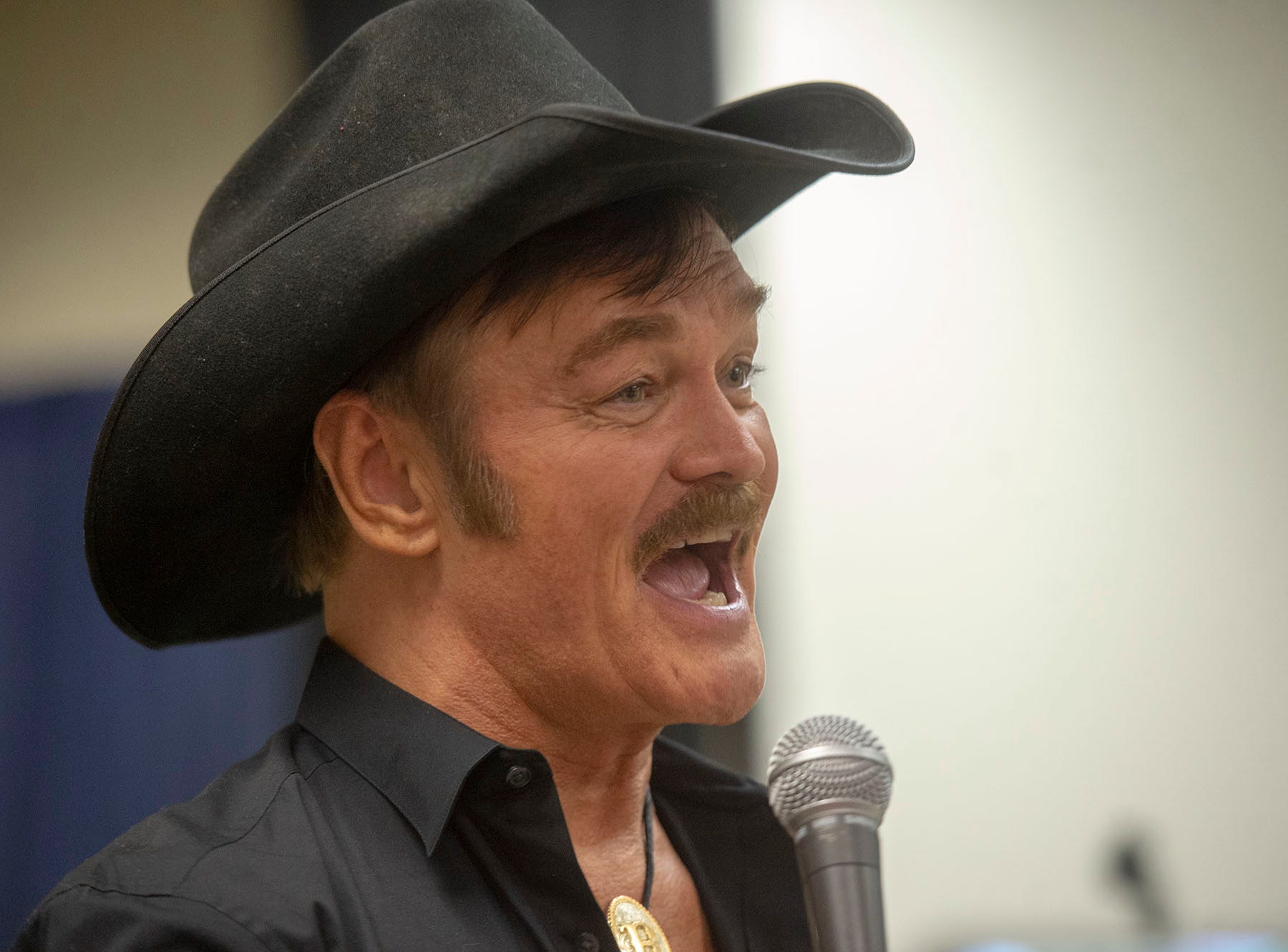 """Randy Jones joined Felipe Rose at the end to sing """"Y.M.C.A."""" Saturday at the White Rose Comic Con, which runs through Sunday, March 24, 2019 at Utz Arena of the York Fairgrounds."""