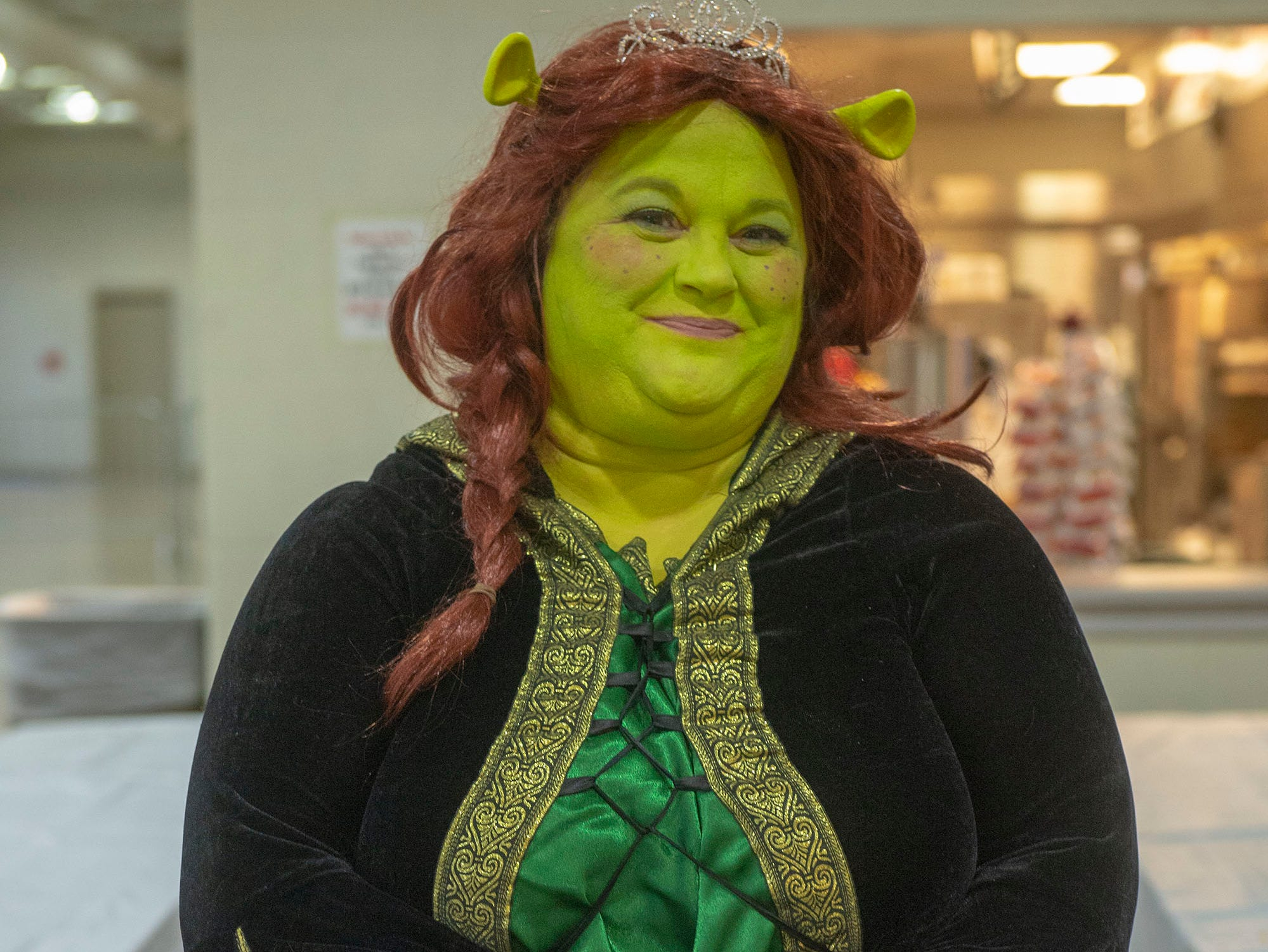 """Elisabeth Bolyard says it takes her about 30-45 minutes to get into her Fiona makeup from the movie """"Shrek."""" The York resident goes to about three comic cons a year. She was Fiona Saturday at the White Rose Comic Con, which runs through Sunday, March 24, 2019 at Utz Arena of the York Fairgrounds."""