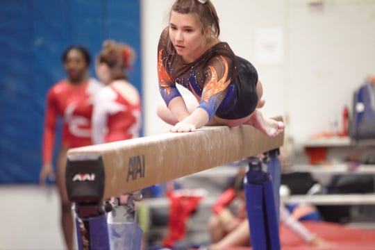 San Angelo Central junior Mary Grace Thompson was third in the girls' all-around at the regional meet in Odessa last weekend.