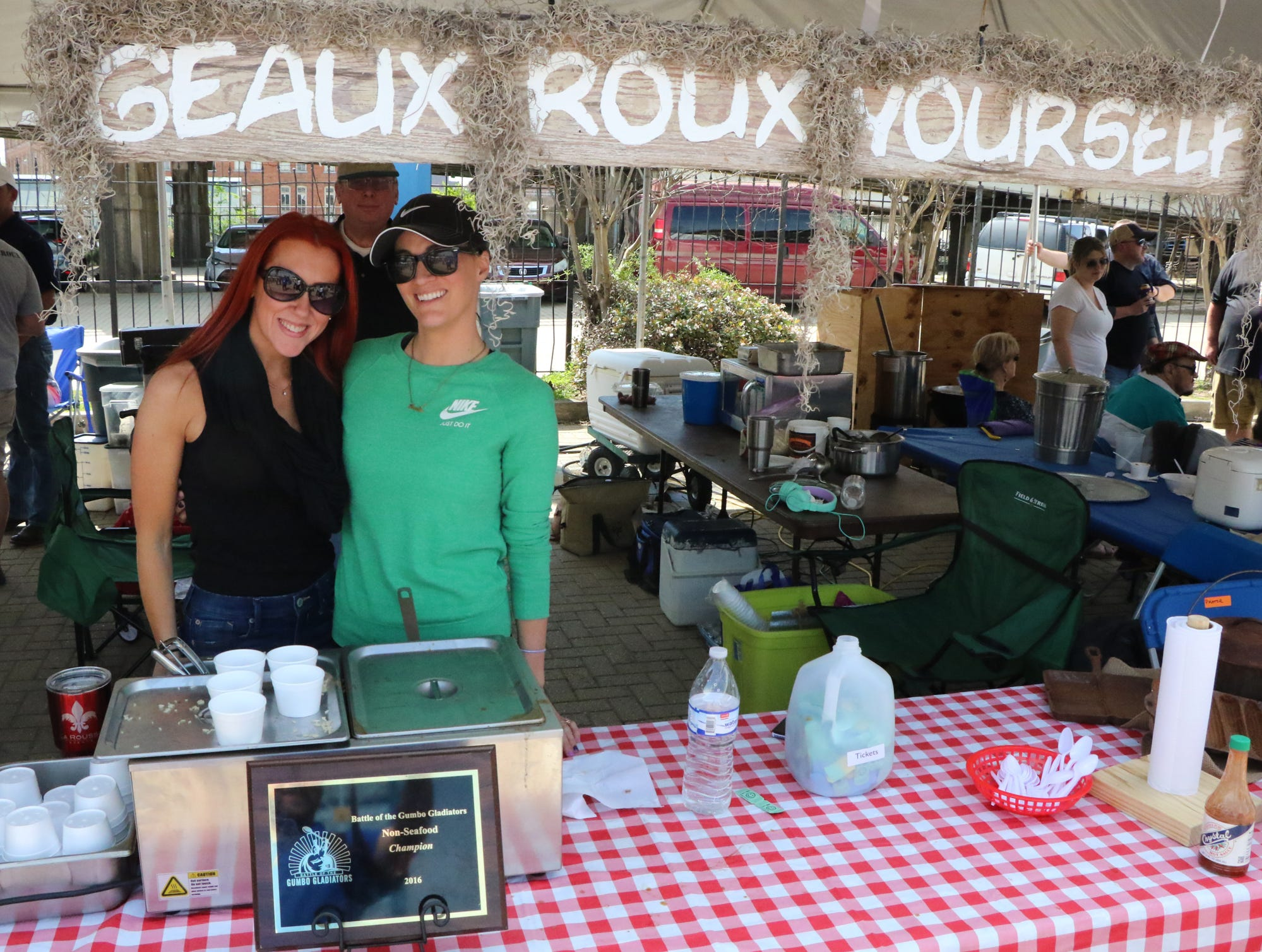 The Seventh Annual Battle of the Gumbo Gladiators Gumbo Cook-off with over 60 pots of gumbo on Saturday at Festival Plaza in downtown Shreveport.