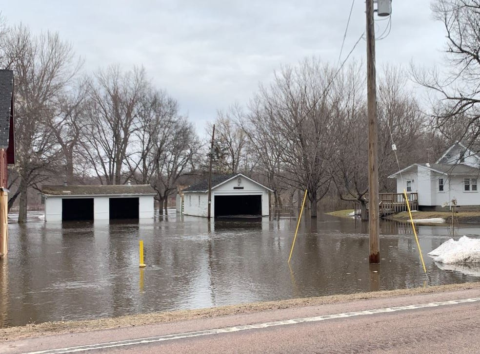 Flooding in Renner on March 24, 2019.