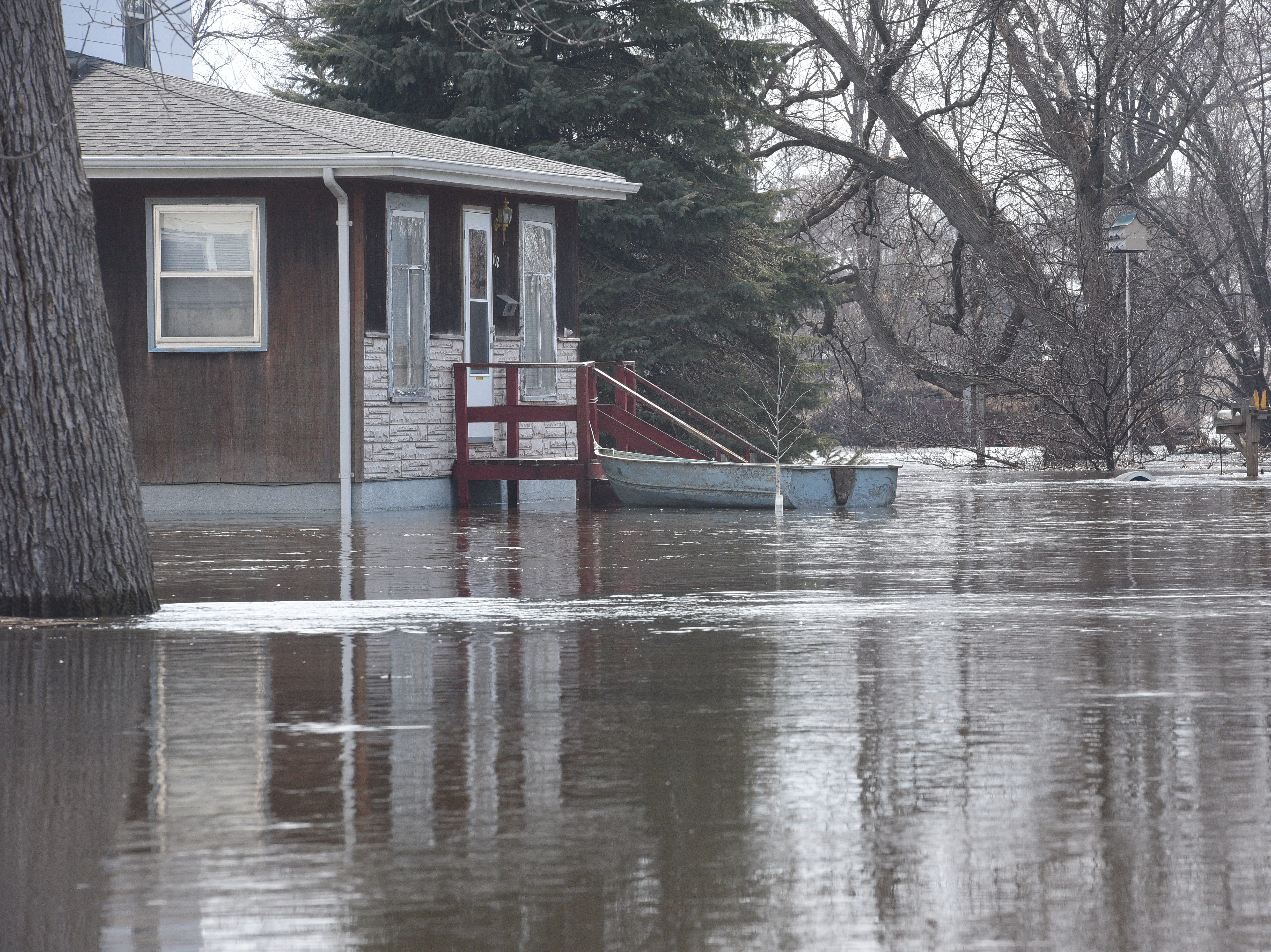 Flooding in Dell Rapids on March 24, 2019