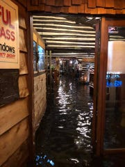 A flash flood stranded more than 40 people at Anton's Restaurant in Waite Park Saturday night. Emergency crews safely evacuated everyone by boat.