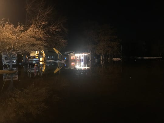 A flash flood stranded around 40 people at Anton's in Waite Park Saturday night. Emergency personnel were able to get everyone safely out.
