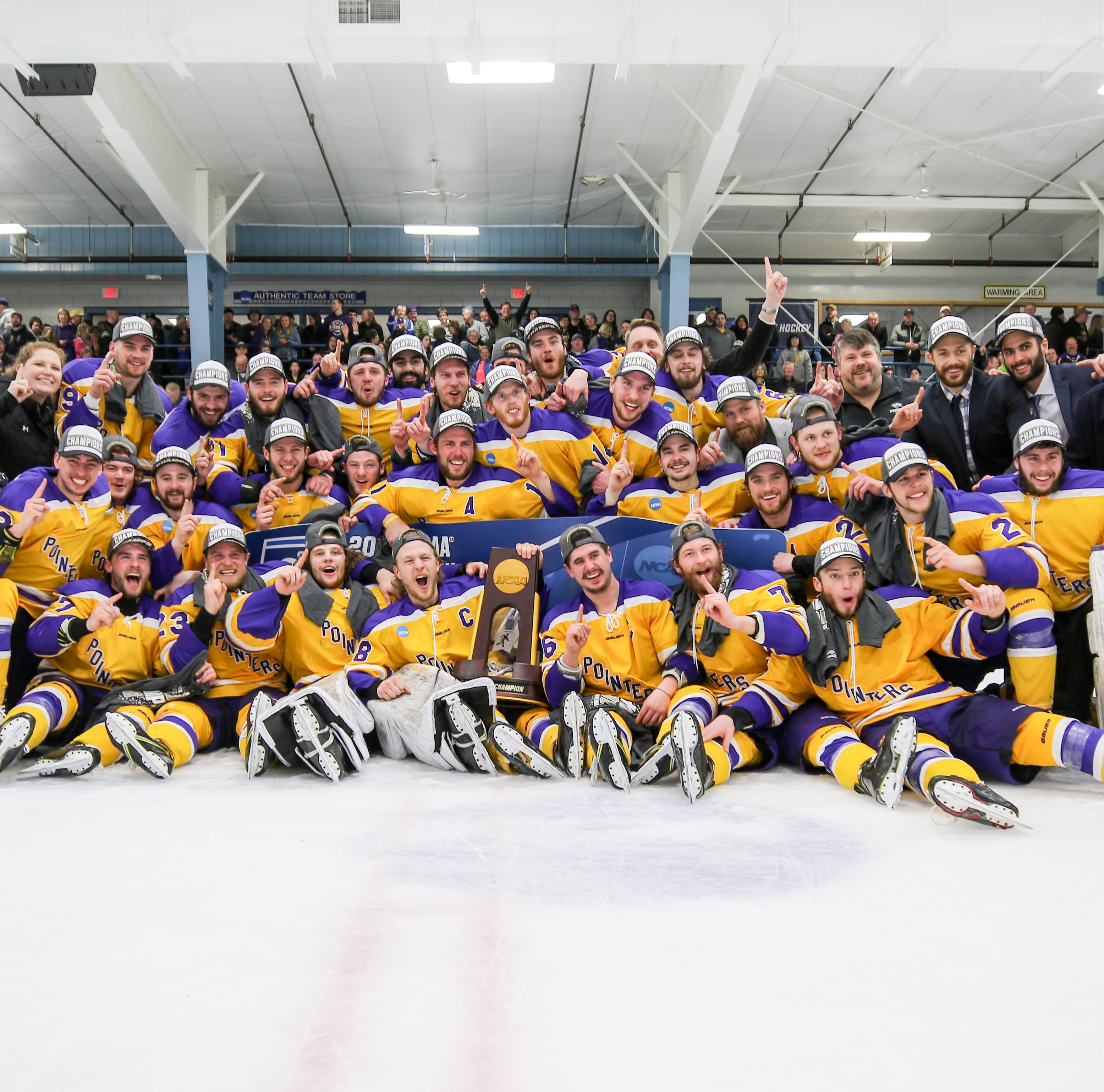 NCAA hockey championships: UWSP wins national title with overtime victory over Norwich
