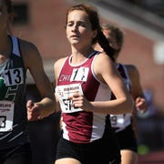 Chiles senior Emily Culley runs the 1600 Invite during the 40th annual FSU Relays at Mike Long Track on Saturday, March 23, 2019.