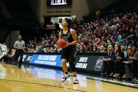 Nausia Woolfolk will be one of three seniors on next year's FSU team which brings back everyone from this year's team.