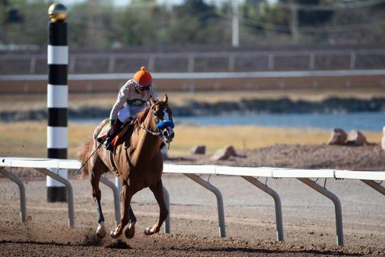 The Bob Baffert-trained filly Chasing Yesterday won the Sunland Oaks on Sunday at Sunland Park Racetrack & Casino.