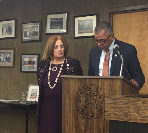 Carol Cohen, executive director of the American Red Cross Shore Region, was at Millville City Commission March 19.  March is Red Cross month. She accepted a proclamation from Mayor Michael Santiago.