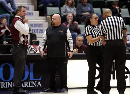 Ossining and Christ the King in girls basketball action during the championship game of the Federation Tournament at the Cool Insuring Arena in Glens Falls March 23, 2019