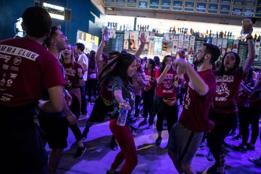Scenes from Dance 2019, a 24-hour dance marathon to benefit The Andrew McDonough B+ (Be Positive) Foundation Sunday at the Bob Carpenter Center.