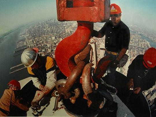Photographer Peter B. Kaplan of Hockessin was the only photographer allowed to work high above the top of the north tower of the World Trade Center as the building's main antenna was constructed.