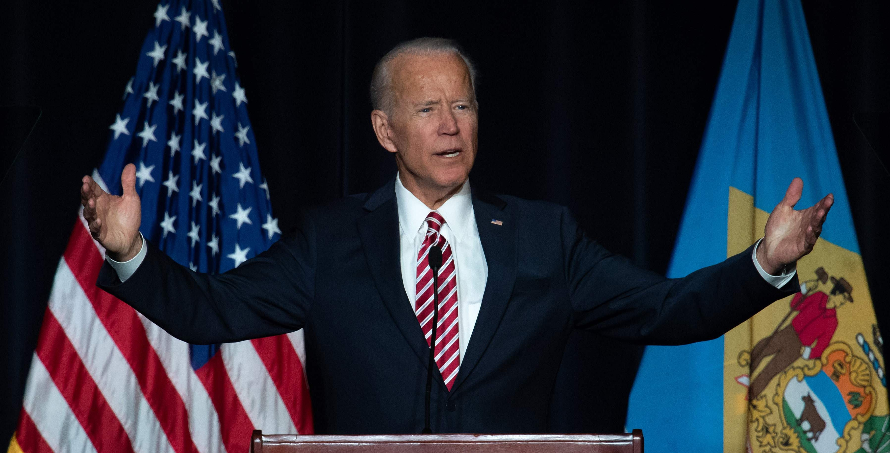 Former Vice President Joe Biden hasn't entered the race, but he has a strong polling lead.