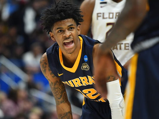 Murray State's Ja Morant finished with 28 points in a loss to Florida State.
