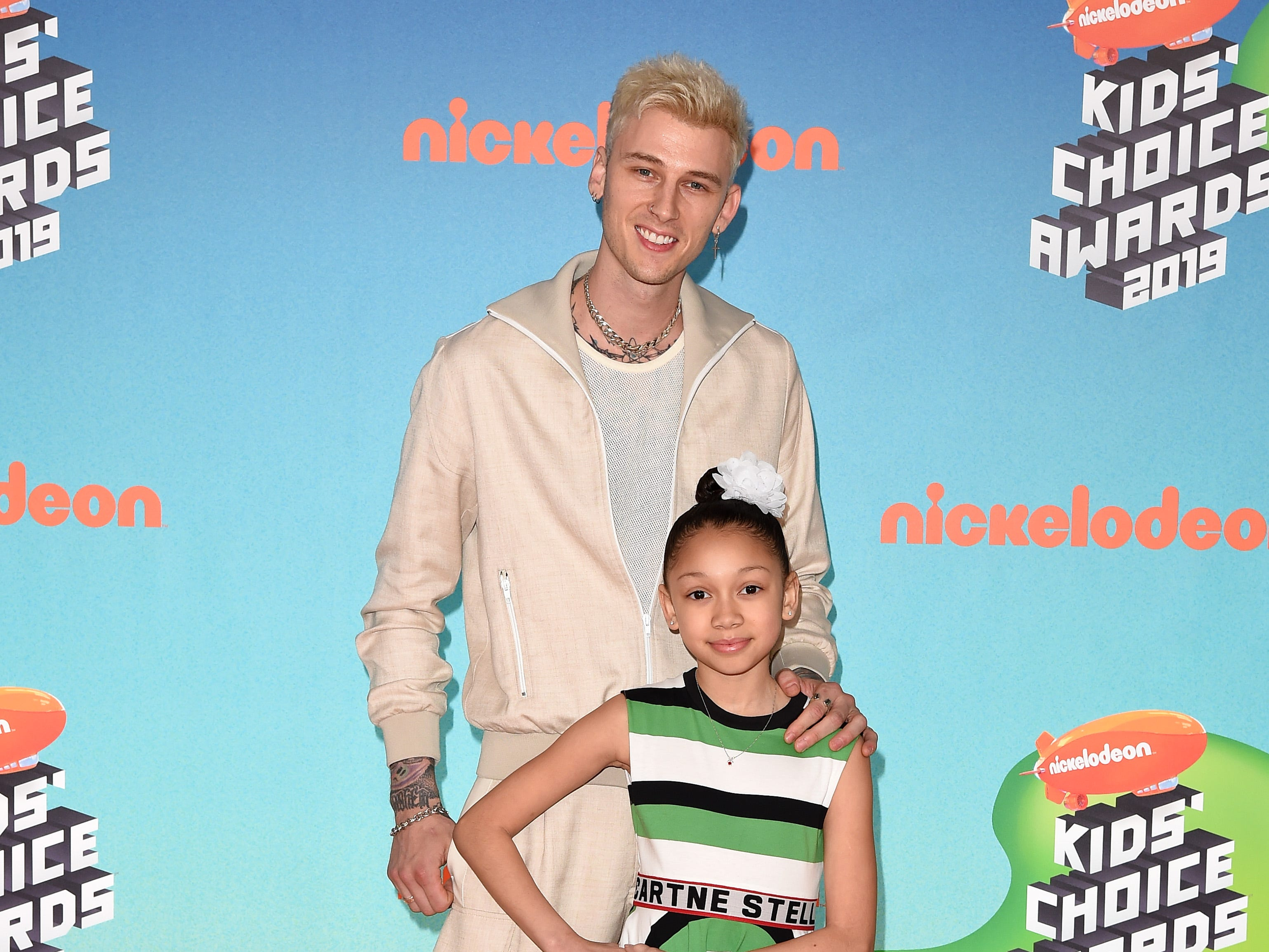 LOS ANGELES, CALIFORNIA - MARCH 23: Machine Gun Kelly and Casie Colson Baker attend Nickelodeon's 2019 Kids' Choice Awards at Galen Center on March 23, 2019 in Los Angeles, California. (Photo by Axelle/Bauer-Griffin/FilmMagic) ORG XMIT: 775314636 ORIG FILE ID: 1137875607
