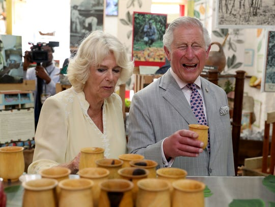 Prince Charles and Camilla, Duchess of Cornwall, visit a chocolate house in Grenada, Saint George's, Grenada on March 23, 2019. They moved on to Cuba on Sunday.