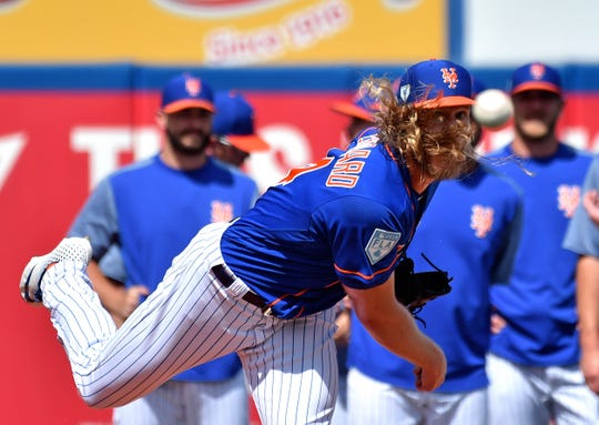 The Mets' Noah Syndergaard is one of the hardest-throwing starting pitchers in the majors. He also threw some heat Sunday in his comments to reporters.