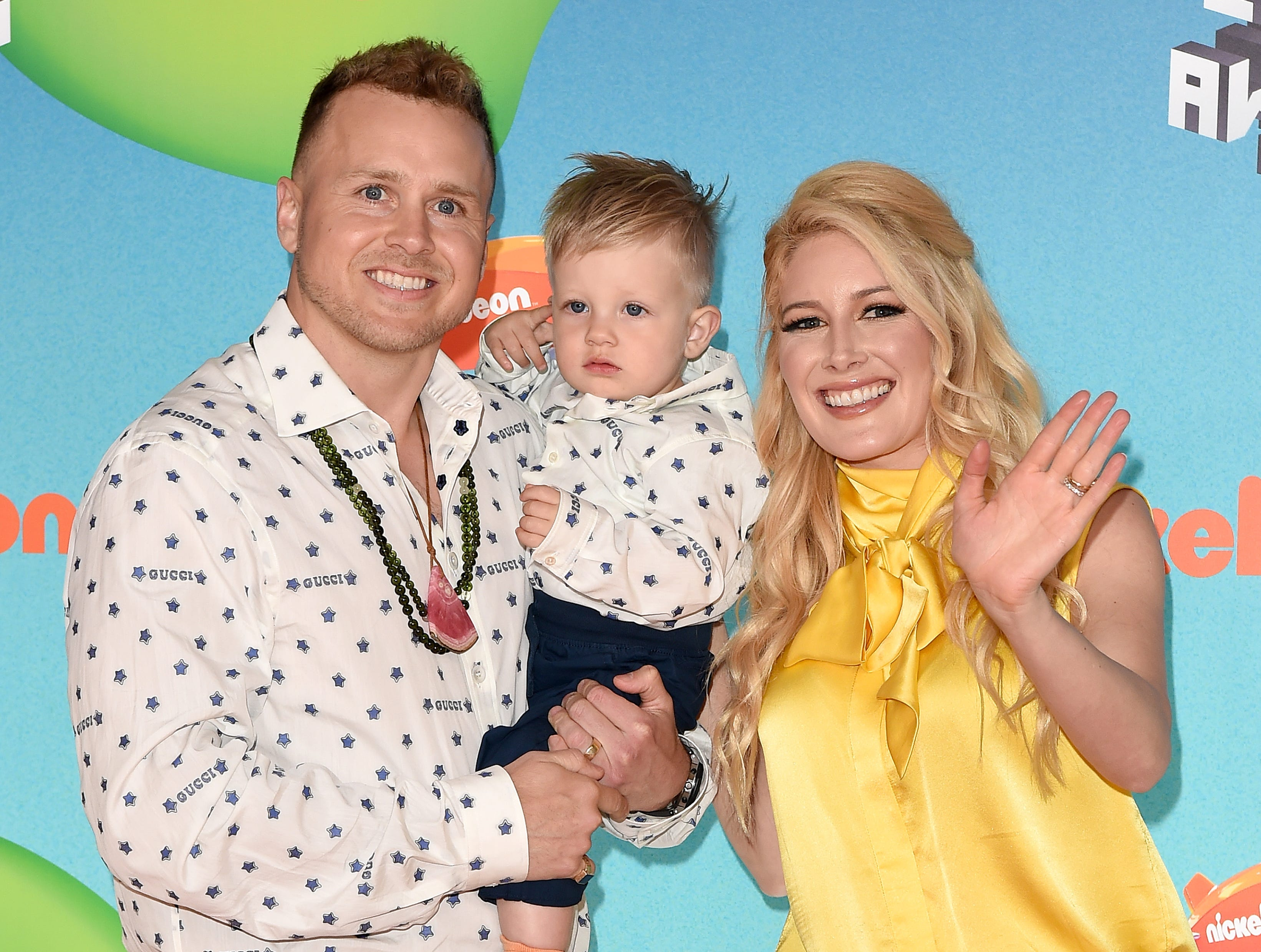 LOS ANGELES, CALIFORNIA - MARCH 23: (L-R) Spencer Pratt, Gunner Stone, and Heidi Montag attend Nickelodeon's 2019 Kids' Choice Awards at Galen Center on March 23, 2019 in Los Angeles, California. (Photo by Axelle/Bauer-Griffin/FilmMagic) ORG XMIT: 775314636 ORIG FILE ID: 1137876151