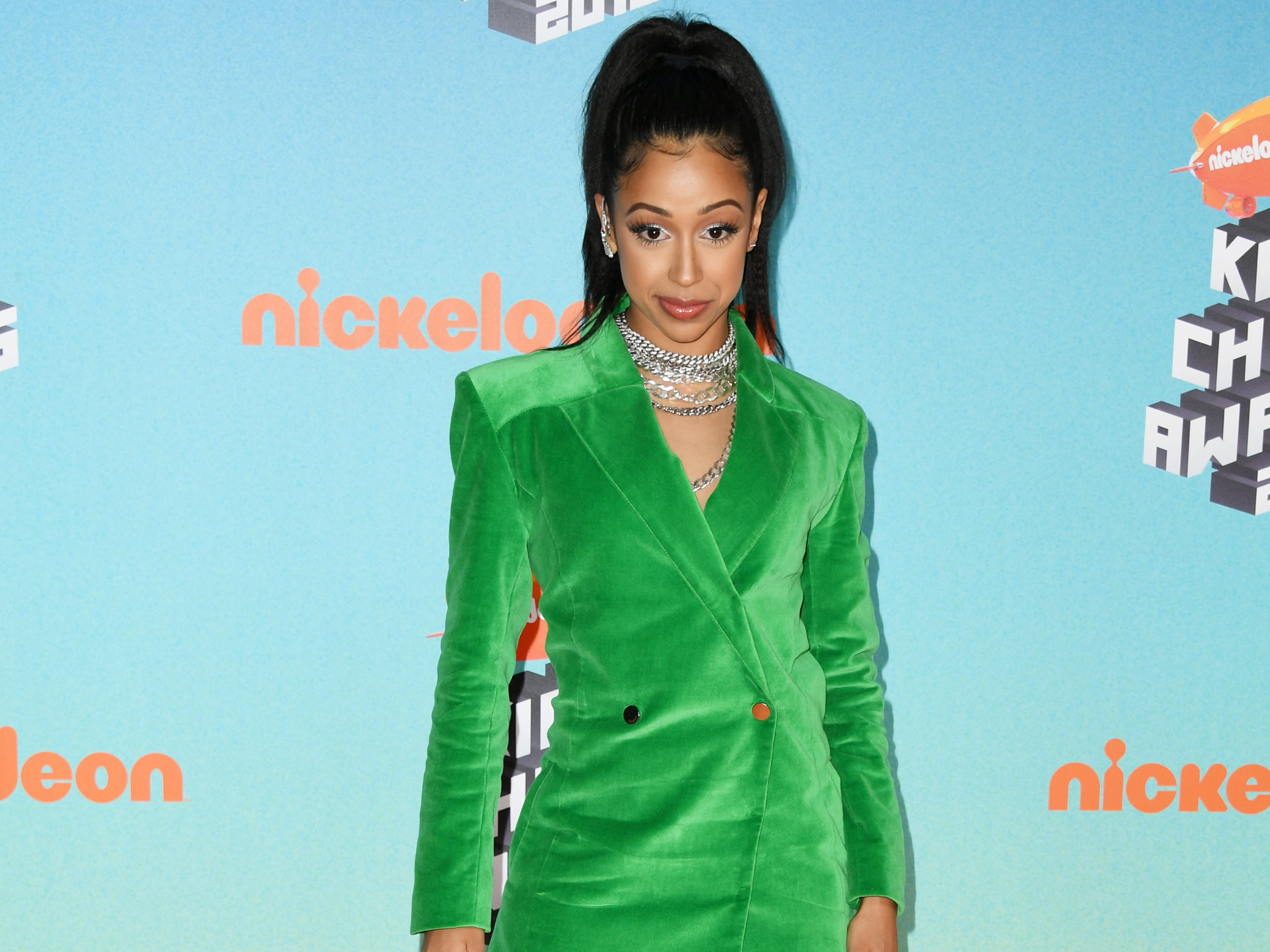 LOS ANGELES, CA - MARCH 23:  Liza Koshy attends Nickelodeon's 2019 Kids' Choice Awards at Galen Center on March 23, 2019 in Los Angeles, California.  (Photo by Jon Kopaloff/Getty Images) ORG XMIT: 775314636 ORIG FILE ID: 1132376476