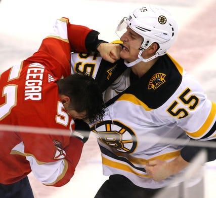 c60d447b2 March 23  Florida Panthers  MacKenzie Weegar vs. Boston Bruins  Noel Acciari
