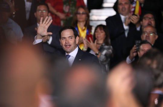 Sen. Marco Rubio, R-Fl., in Miami, on Feb 18, 2019.