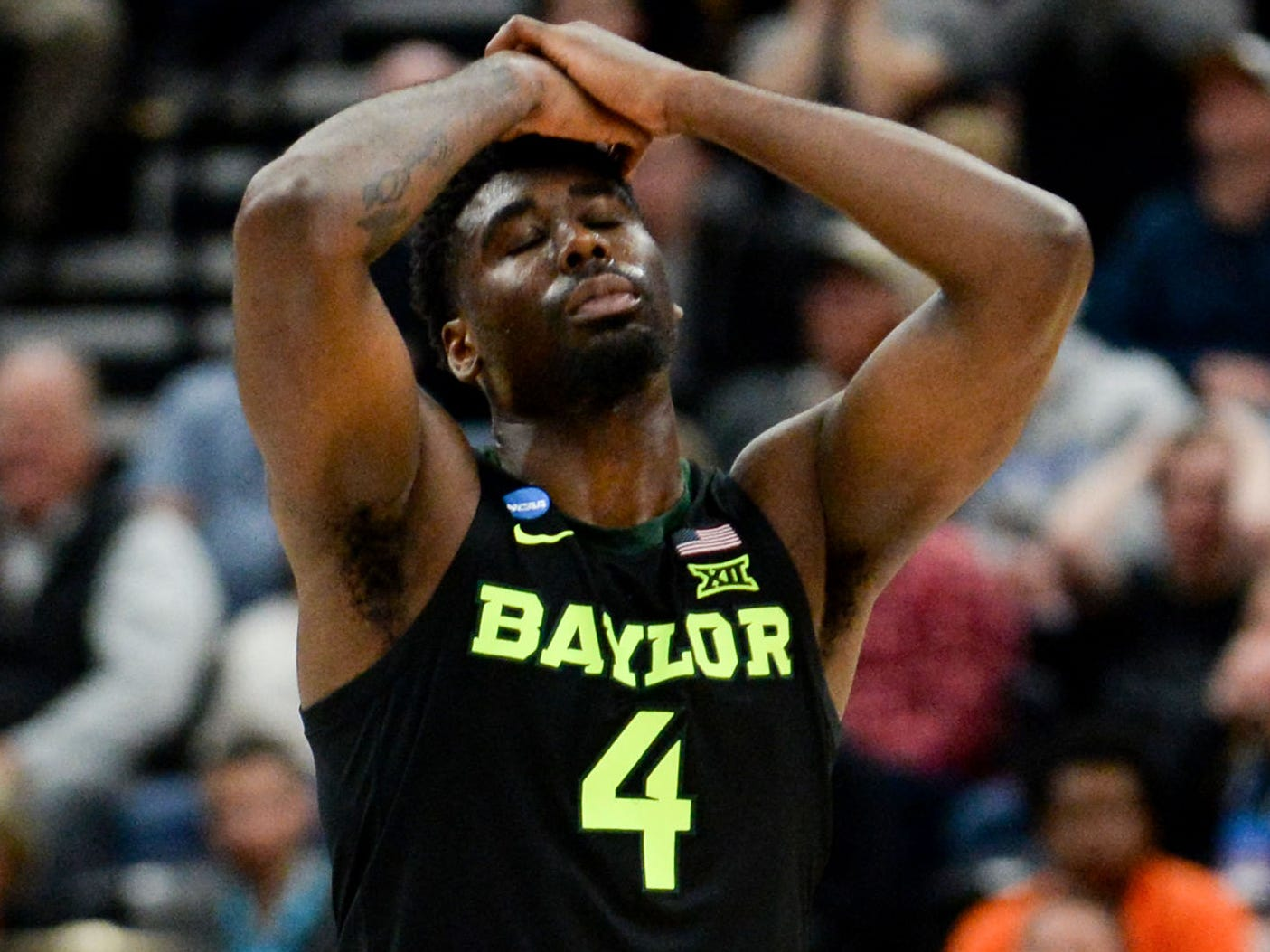 Round of 32: No. 9 Baylor loses to No. 1 Gonzaga, 83-71.
