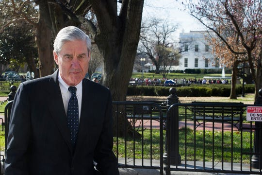 Special Counsel Robert Mueller walks past the White House, after attending St. John's Episcopal Church for morning services, Sunday, March 24, 2019 in Washington.