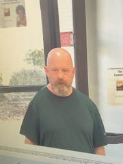 A surveillence image released by the Georgetown County Sheriff's Office shows a man believed to have robbed a bank on Friday.